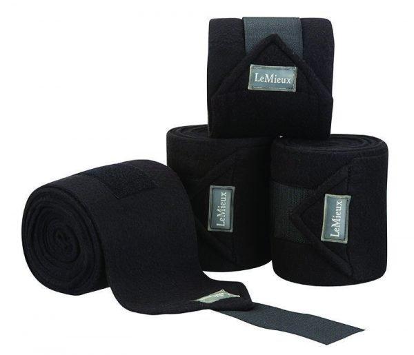 LeMieux Luxury Fleece Polo Bandages - Black LeMieux