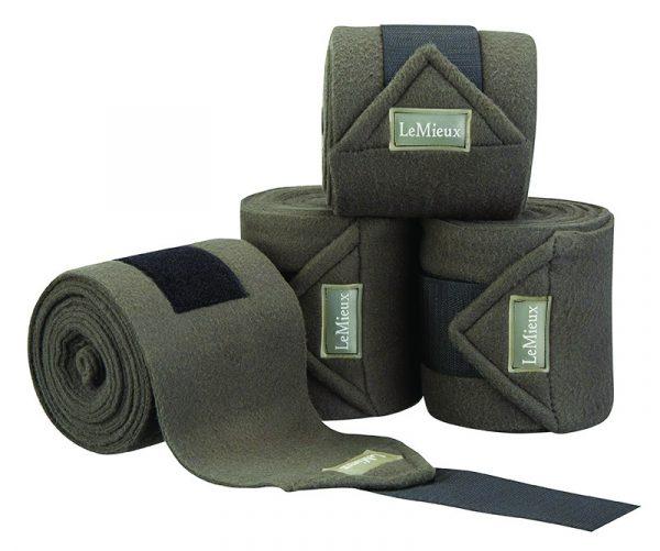 LeMieux Luxury Fleece Polo Bandages - Grey LeMieux