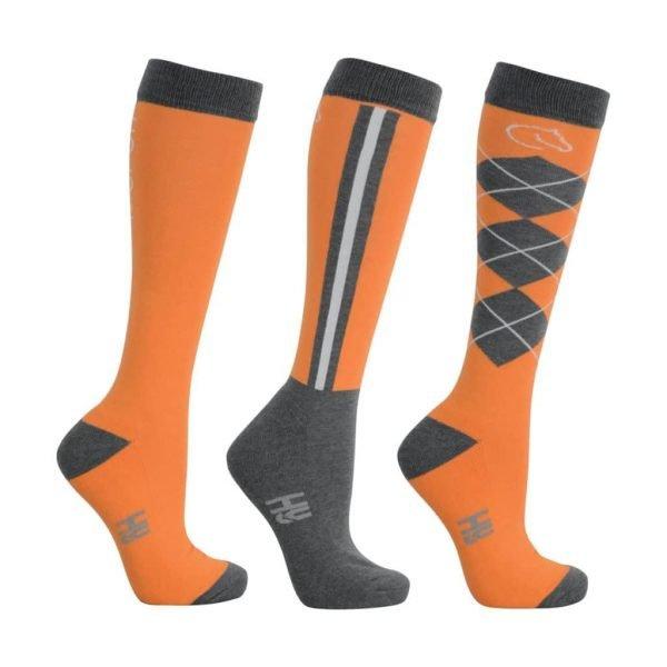 Coldstream Cornhill Long socks in tangerine x 3