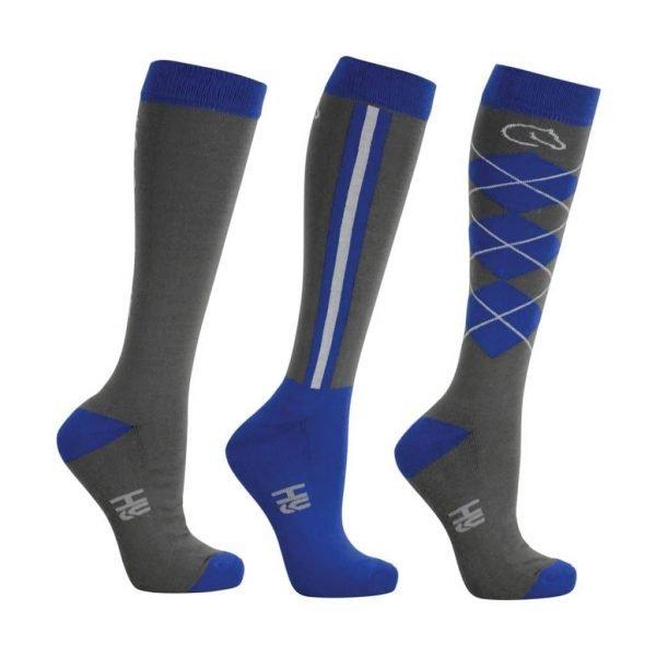 Coldstream Cornhill riding socks in Blue