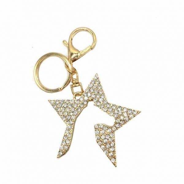 Zeddy Diamante Key Ring Hy