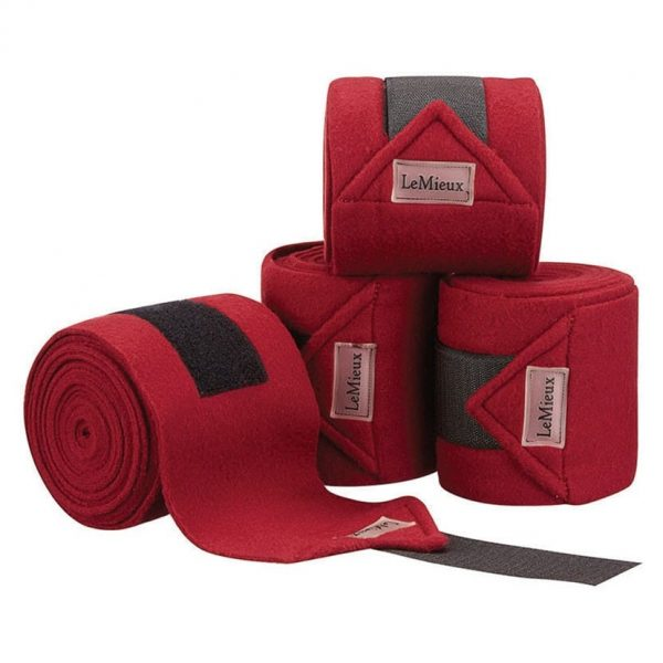 LeMieux Luxury Fleece Polo Bandages - Burgundy LeMieux