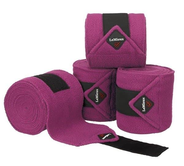 LeMieux Luxury Fleece Polo Bandages - Plum LeMieux