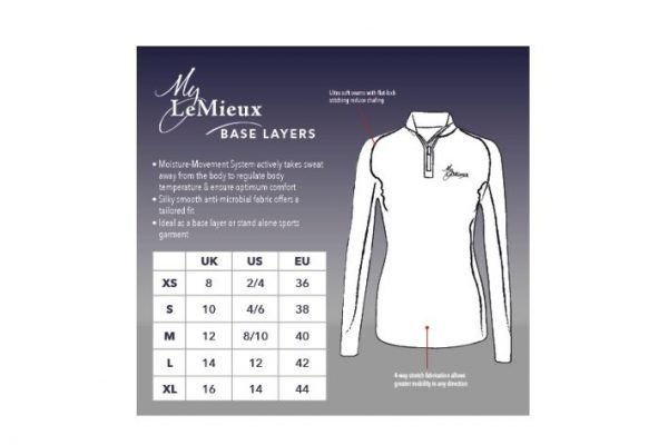 My LeMieux Base Layer - Teal LeMieux