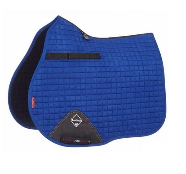 LeMieux Luxury Suede GP Saddle Pad - Benetton Blue LeMieux