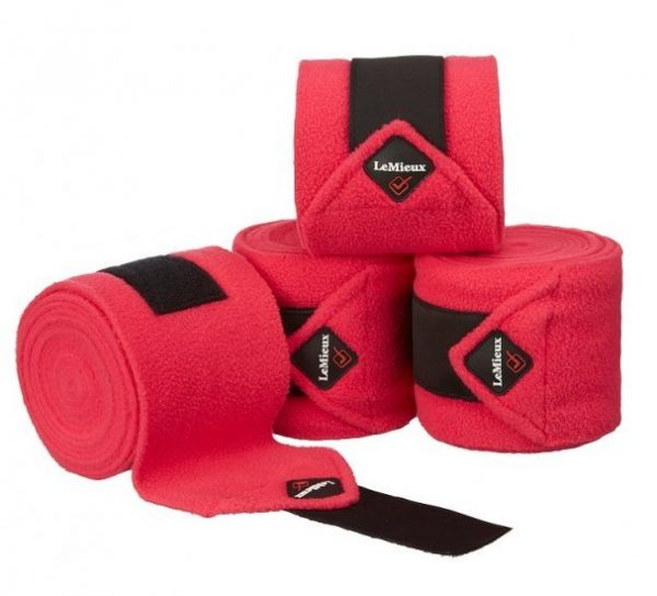 LeMieux Luxury Fleece Polo Bandages - Fuchsia LeMieux