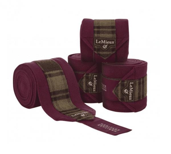 LeMieux Heritage Polo Bandages  - Plum LeMieux