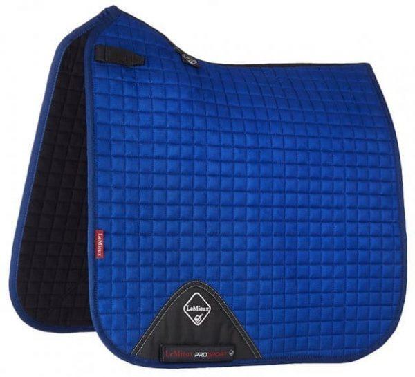 LeMieux ProSport Suede Dressage Square (D-Ring) - Benetton Blue LeMieux