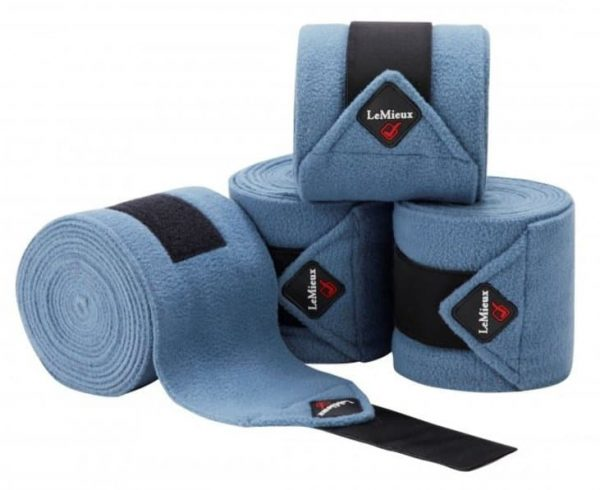 LeMieux Luxury Fleece Polo Bandages - Ice Blue 1