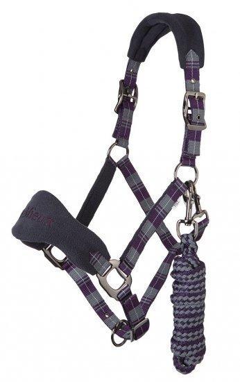 LeMieux Signature Tartan Head Collars - Purple LeMieux