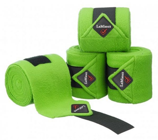 LeMieux Luxury Fleece Polo Bandages - Lime Green LeMieux