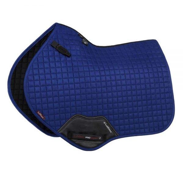 LeMieux ProSport Suede Close Contact Square (D-Ring) - Benetton Blue LeMieux