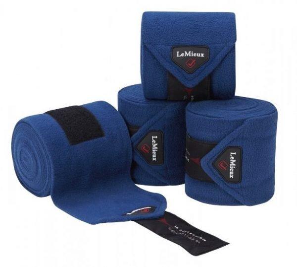 LeMieux Luxury Fleece Polo Bandages - Midnight Blue LeMieux