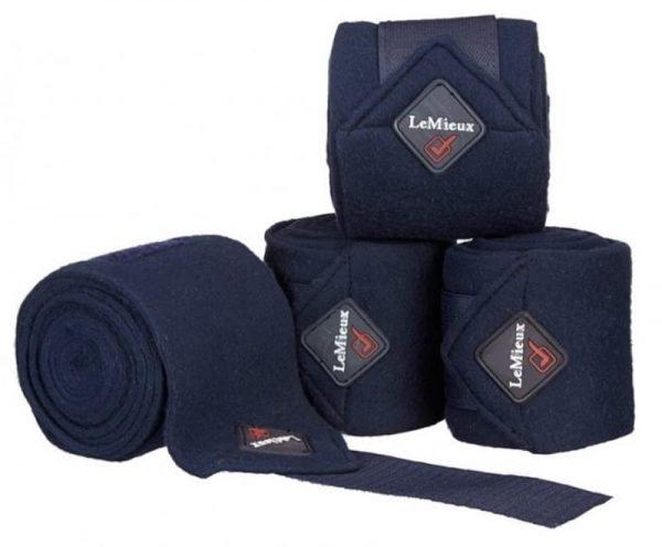LeMieux Luxury Fleece Polo Bandages - Navy LeMieux