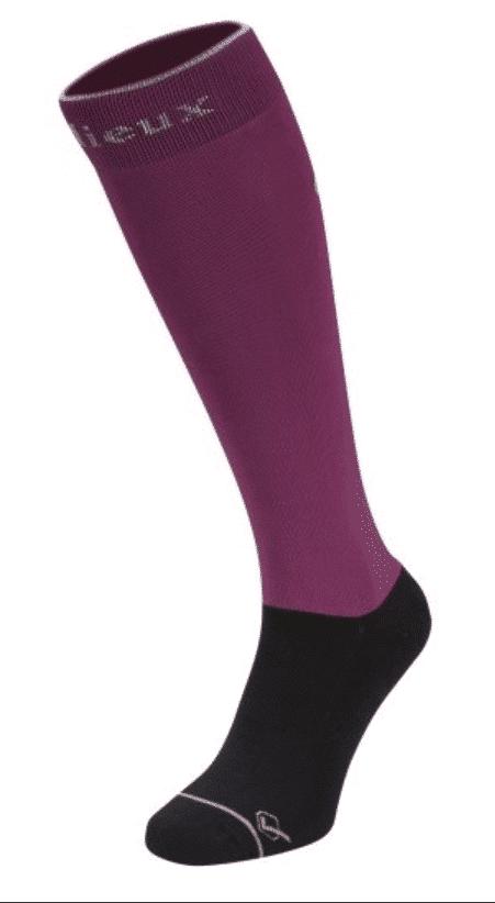 LeMieux Classic Riding Socks - Plum LeMieux