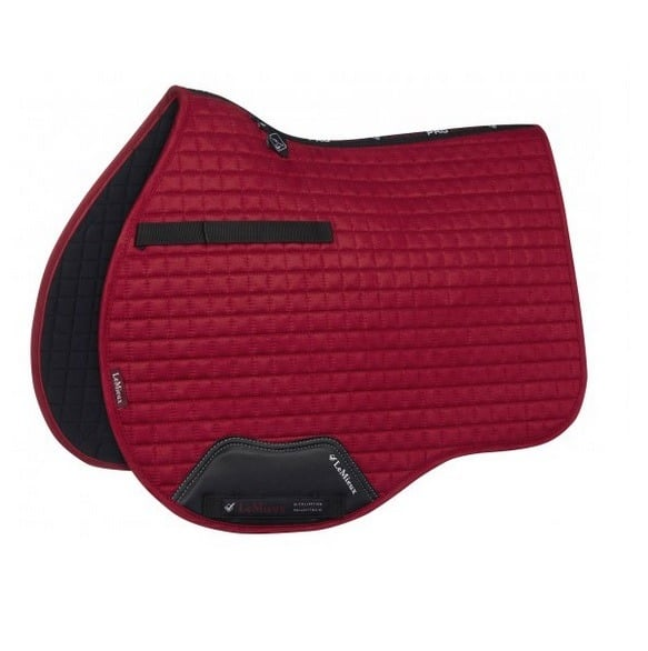 LeMieux ProSport Suede GP Square - Chilli Red LeMieux