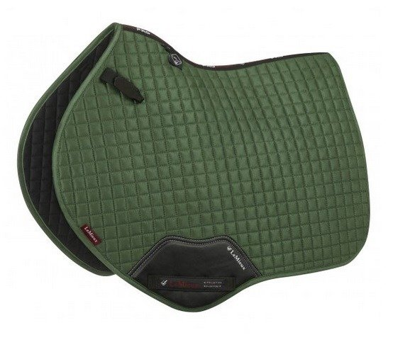 LeMieux ProSport Suede Close Contact Square (D-Ring) - Hunter Green LeMieux