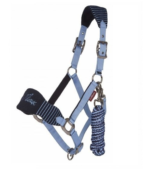 Vogue Fleece Headcollar with Leadrope - Corn Blue LeMieux