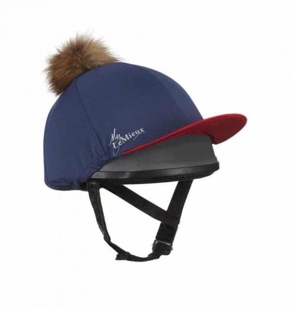LeMieux Hat Silk - Navy & Red LeMieux
