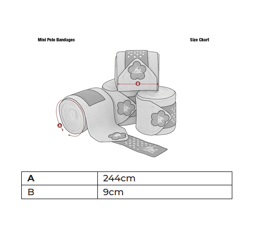Mini LeMieux Polo Bandages - Chilli LeMieux
