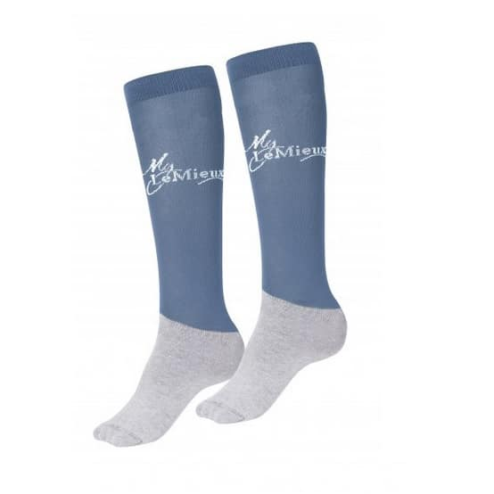 LeMieux Competition Sock Green (Twin Pack) - Ice Blue LeMieux