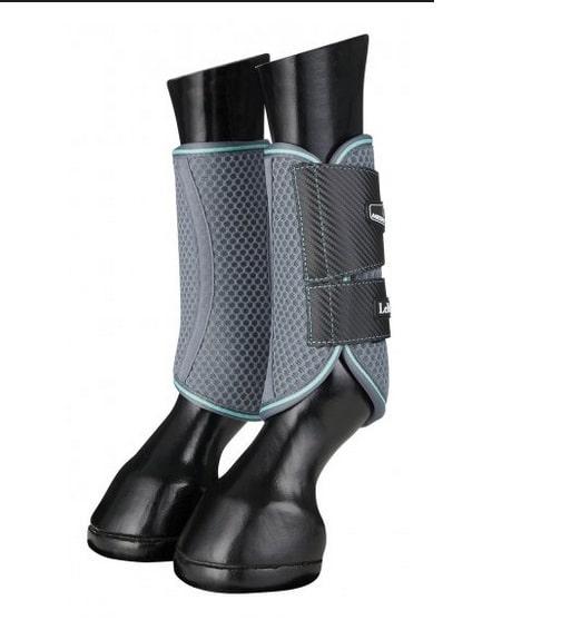 LeMieux Carbon Mesh Wrap Boots - Blue/Grey LeMieux
