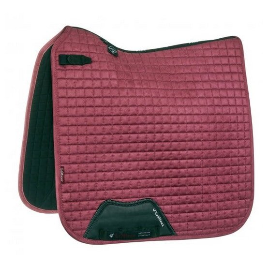 LeMieux ProSport Suede Dressage Square (D-Ring) - French Rose LeMieux