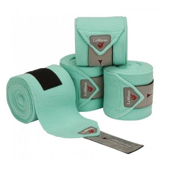 Full set of 4 LeMieux Polo bandages in Mint Green