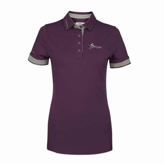My LeMieux Ladies Polo Shirt - Blackcurrant LeMieux