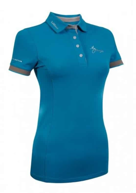 My LeMieux Ladies Polo Shirt - Teal/Grey LeMieux