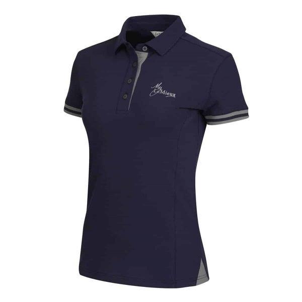 My LeMieux Ladies Polo Shirt - Navy/Grey LeMieux
