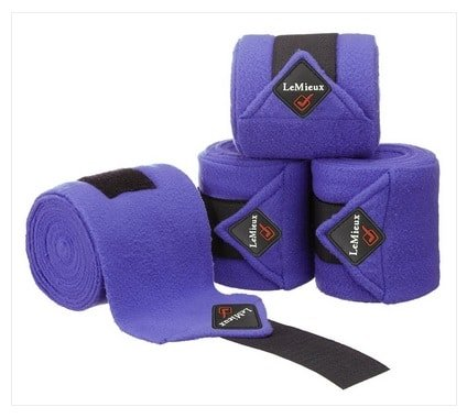 LeMieux Luxury Fleece Polo Bandages - Blueberry LeMieux