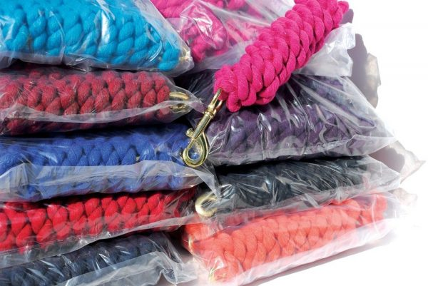 Plain Cotton Lead Rope - Pack of 10 Harlequin