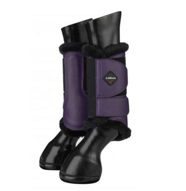 LeMieux Fleece Brushing Boots - Blackcurrant LeMieux