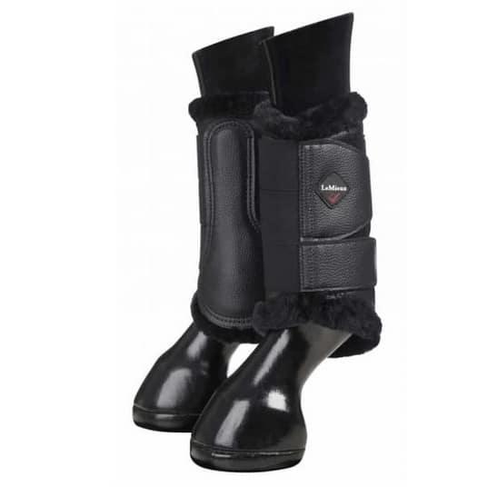 LeMieux Fleece Brushing Boots - Black/Black LeMieux