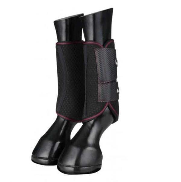 LeMieux Carbon Mesh Wrap Boots - Black/Mulberry LeMieux