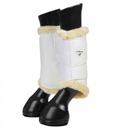 LeMieux Fleece Brushing Boots - White/Natural LeMieux