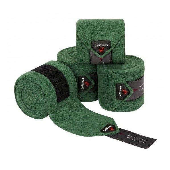 LeMieux Luxury Fleece Polo Bandages - Hunter Green LeMieux