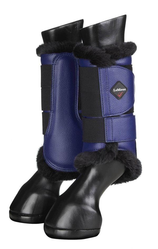 LeMieux Fleece Brushing Boots - Ink Blue LeMieux