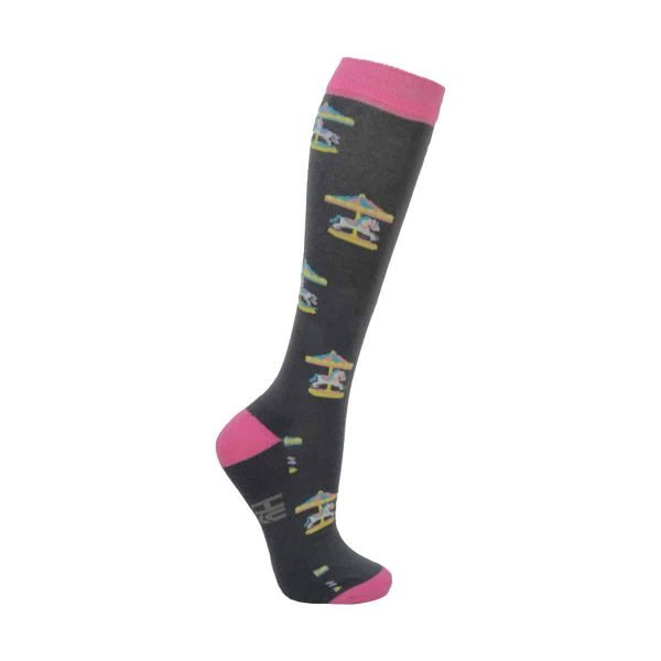 Hy Equestrian Merry Go Round Socks - Pack of 3 Hy Equestrian