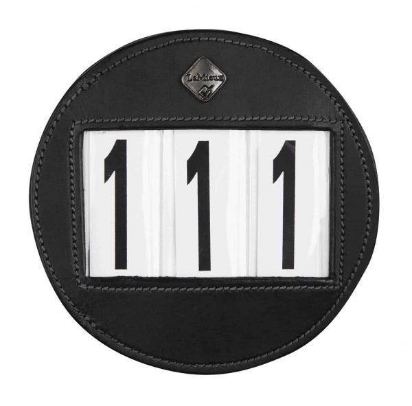 LeMieux Bridle Number Holder Black Round LeMieux
