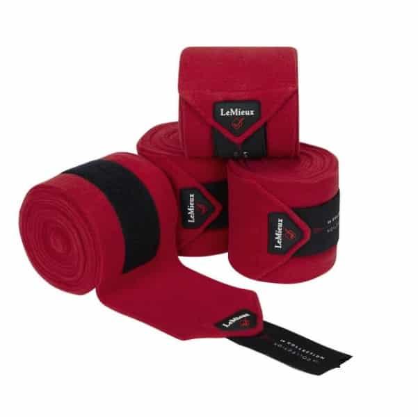 LeMieux Luxury Fleece Polo Bandages - Chilli LeMieux