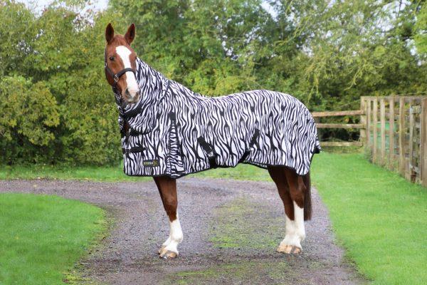 StormX Original Zebra Print Fly Rug Hy Equestrian