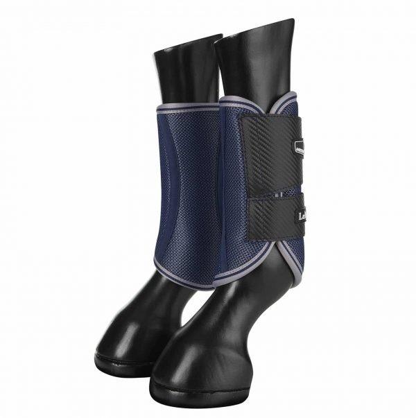 LeMieux Carbon Mesh Wrap Boots - Navy LeMieux