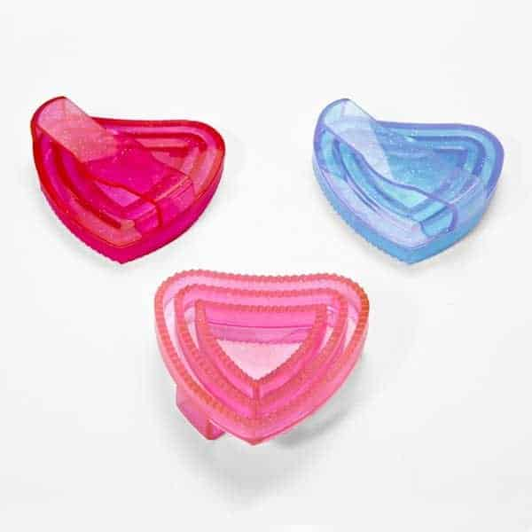 Elico Heart Shaped Glitter Rubber Curry Comb Elico