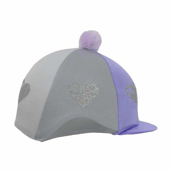 Hy Equestrian Glitter Hearts Hat Cover Hy Equestrian