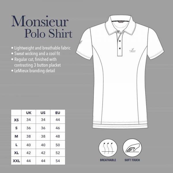 LeMieux Monsieur Polo Shirt - Black LeMieux