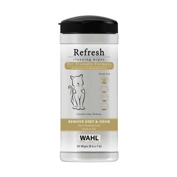 Wahl Refresh Cleaning Wipes for Cats Wahl