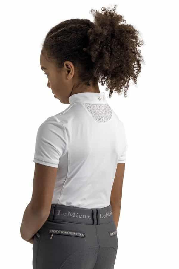 LeMieux Young Rider Belle Show Shirt - White LeMieux