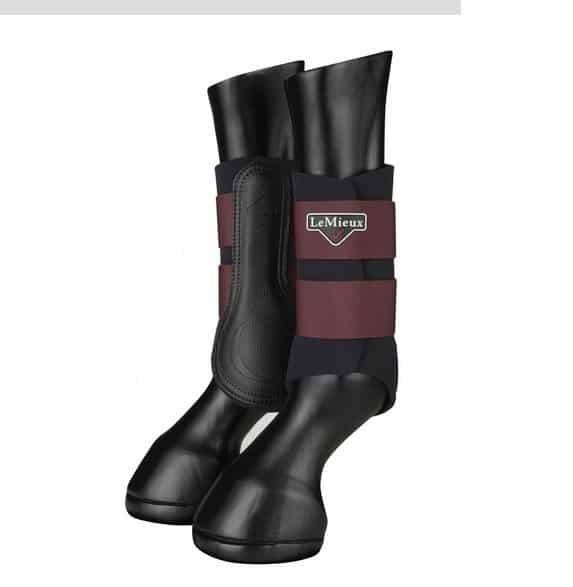 LeMieux Grafter Brushing Boots - Rioja LeMieux